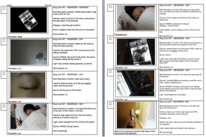 Preproduction Example  Storyboard  Film Studies